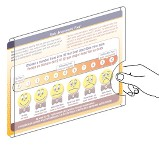 Visual Pain Scale with Acrylic Wall Holder