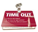 Time Out Badgie™ Card