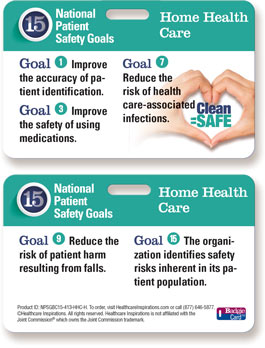 2015 National Patient Safety Goal Poster for Home Health Care