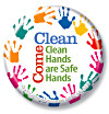 Clean Hands are Safe Hands Button