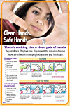 Clean Hands are Safe Hands Poster #406