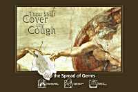 Creation of Adam - Cover Your Cough Poster