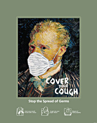 Van Gogh - Cover Your Cough Poster