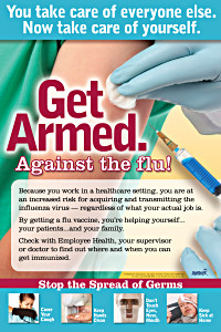 Get Armed Flu Prevention Poster