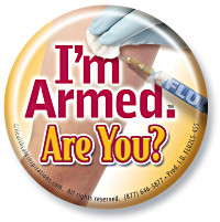 I'm Armed. Are You? Button