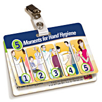 5 Moments for Hand Hygiene Badgie Card