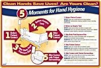 Inpatient: 5 Moments for Hand Hygiene Counter Mat/MousePad