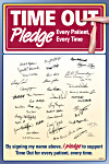 Time Out Pledge Poster