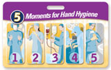 5 Moments for Hand Hygiene Badgie™ Card - Surgery Center