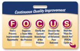 FOCUS/PDCA Badgie Card