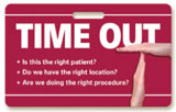 Surgical Time Out Badgie™ Card