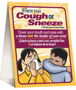 Cover Your Cough Table Tent