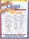 Clean Because I Care Infection Prevention Posters