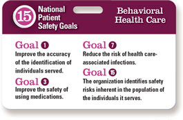 2015 Behavioral Health National Patient Safety Goals