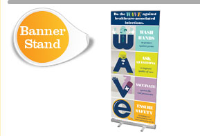 Wave Campaign Banner Stand