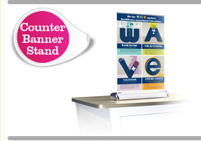 Wave Campaign Counter Banner Stand