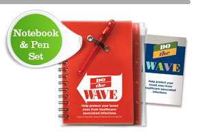 Wave Campaign Notebook & Pen Set
