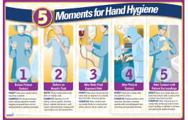 5 Moments for Hand Hygiene Poster