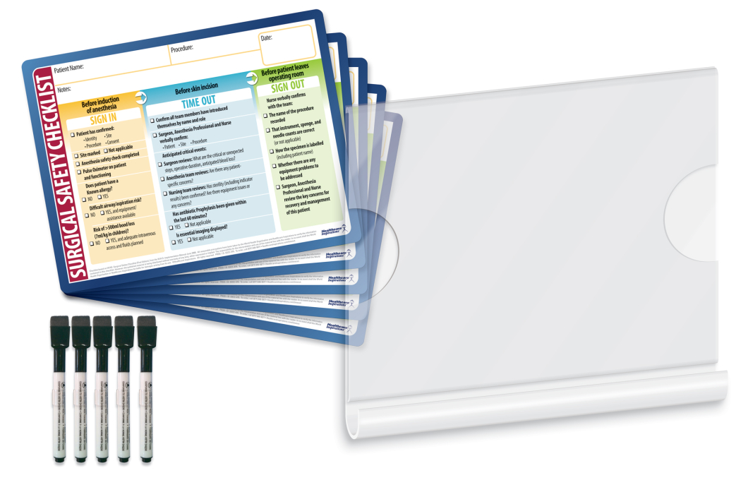 Dry-Erase Surgical Safety Checklist Kit